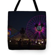 Disneyland Ferris Wheel At Dark Tote Bag
