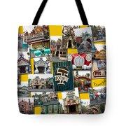 Disneyland Toontown Yellow Collage Tote Bag