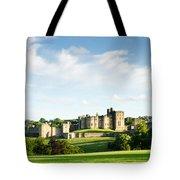 Distant Alnwick Castle Tote Bag