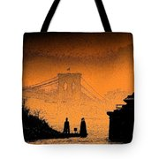 Distant Bridge Tote Bag
