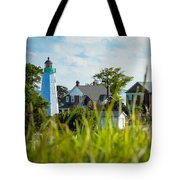 Distant Light House Tote Bag