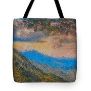 Distant Mountains - Digital Impression Paint Tote Bag