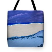 Distant Sailboat Tote Bag by Melissa Dawn