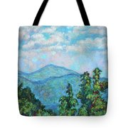 Distant View Of Peaks Of Otter Tote Bag