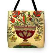 Distelfink With Flowers Tote Bag