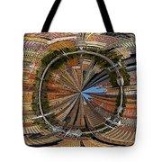 Distorted Lower Manhattan Tote Bag