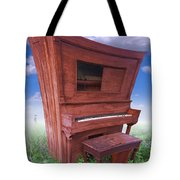 Distorted Upright Piano Tote Bag by Mike McGlothlen