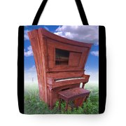 Distorted Upright Piano Tote Bag