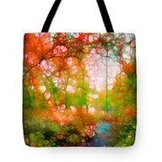 Distortions Of Autumn Tote Bag