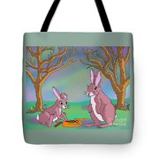 Distracted Easter Bunnies Tote Bag