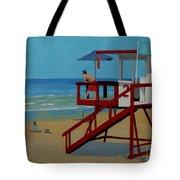 Distracted Lifeguard Tote Bag