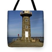 Disused East Pier Lighthouse - Whitby Tote Bag