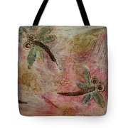 Rustic Dragonflies Pinks Tote Bag