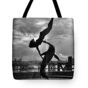 Diver And Dolphin Tote Bag