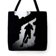 Diver Silhouette  Tote Bag