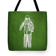 Diving Armor Patent Drawing From 1893 - Green Tote Bag