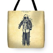 Diving Armor Patent Drawing From 1893 - Vintage Tote Bag