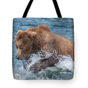 Diving For Salmon Tote Bag