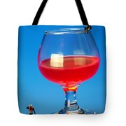 Diving In Red Wine Little People Big Worlds Tote Bag