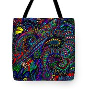 Diving The Deep Blue Tote Bag