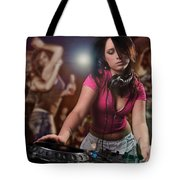 Dj Girl Tote Bag