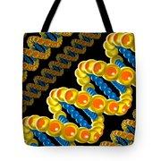 Dna Strand - Dna Strands Art - Genetics Genetic - Gene Genes - Conceptual - Square Format Image Tote Bag