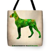 Doberman Pinscher Poster Tote Bag