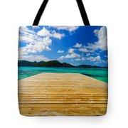 Dock And Beautiful Water Tote Bag