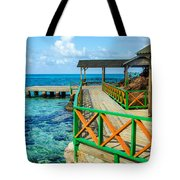 Dock And Tropical Water Tote Bag