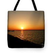 Dock On The Bay Sunset Tote Bag