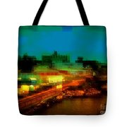 Dock On The East River - New York Tote Bag