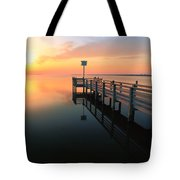 Dock On The Sunset Sound Tote Bag