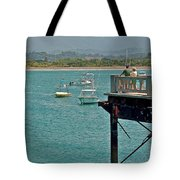 Dock Overlooking Quepos Bay-costa Rica Tote Bag