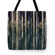 Dock Pilings Tote Bag
