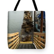 Dock Sea Lions Astoria Or 1 A Tote Bag
