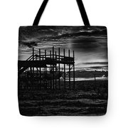 Dock Sunset Bw1 Tote Bag