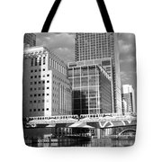 Docklands London Mono Tote Bag