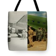 Doctor - 1942 - Delivering Blood - Side Tote Bag by Mike Savad