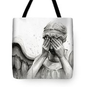 Doctor Who Weeping Angel Don't Blink Tote Bag