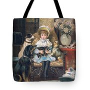 Doddy And Her Pets Tote Bag