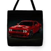 Dodge Challenger S R T Hellcat Tote Bag
