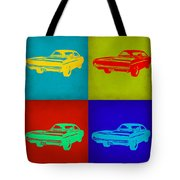 Dodge Charger Pop Art 2 Tote Bag