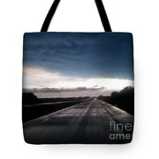 Vanishing Point Highway Tote Bag by Edward Fuller