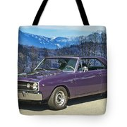 Dodge- Mountain Background Tote Bag