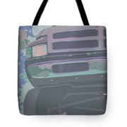 Dodge Ram With Decreased Color Value Tote Bag
