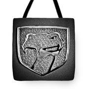 Dodge Viper Emblem -217bw Tote Bag
