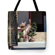 Dog At Temple Tote Bag
