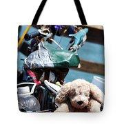 Dog Bike Tote Bag