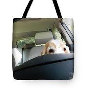 Dog Driving A Car Tote Bag
