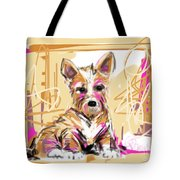 dog I did not make this mess Tote Bag